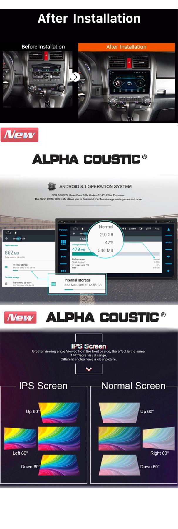เครื่องเสียงรถยนต์ Android Alpha